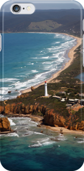 Split Point Lighthouse - iphone Cover by Peter Redmond