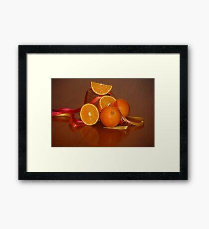 Oranges On Orange Framed Print