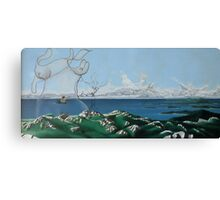 "Surreal Feminine Landscape - oil on canvas - 60"" x 28"" Canvas Print"