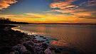 A Winter Night At Lake Eufaula, Oklahoma by Carolyn  Fletcher