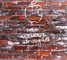 'Life Without Windows' Graffiti by Alisdair Binning
