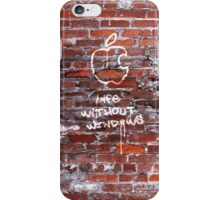 'Life Without Windows' Graffiti iPhone Case/Skin