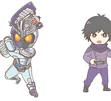 [Kamen Rider] Drive - KR Chaser/Chase Stickers by dotemcee