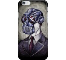 Gas Mask Man iPhone Case/Skin