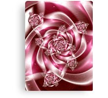 Silk Ribbons for Breast Cancer Canvas Print