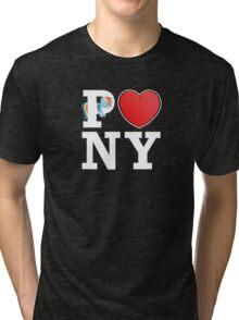 I <3 PONY (BLACK) Tri-blend T-Shirt