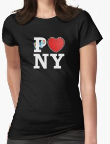 I <3 PONY (BLACK) Womens Fitted T-Shirt