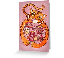 Tiger's Tea Party Greeting Card