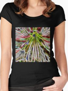 abstract amaryllis Women's Fitted Scoop T-Shirt