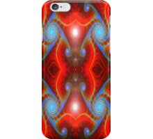 Blue on Red iPhone Case/Skin