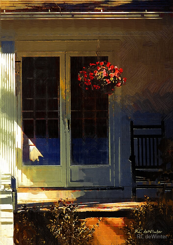 Sunlight on Scarlet (New England Autumn) by RC deWinter