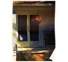 Sunlight on Scarlet (New England Autumn) Poster
