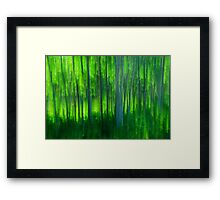 Green Forest Framed Print