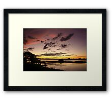 Brown, rose and gold sunset Framed Print