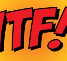 "Comic Book Blast ""WTF!?"" Sticker"