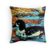 Reflecting water color Throw Pillow