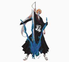 Ichigo Kurosaki with broken Hollow mask by GuyDude1337