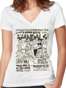 the vandals show flyer Women's Fitted V-Neck T-Shirt