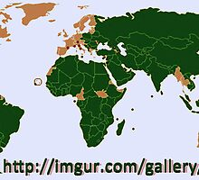 Map of countries that will support Palestine . . . . by kombizz