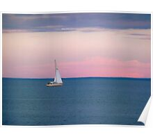Solo Sail Boat ~ The Great Lake Superior Poster