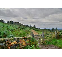 Yorkshire: Looking Back to Roseberry Topping Photographic Print