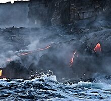 Lava Flow at Kalapana 9 by Alex Preiss
