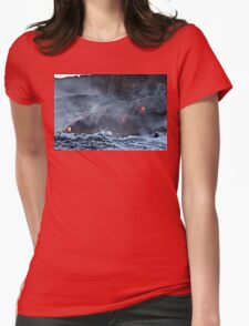 Lava Flow at Kalapana 9 Womens Fitted T-Shirt