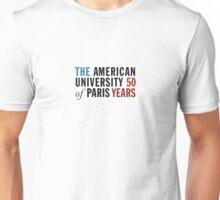 American University of Paris - 50 Year Anniversary Unisex T-Shirt