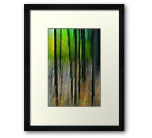 Green and Trunks Framed Print