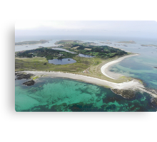 Aerial Islands of Scilly Canvas Print