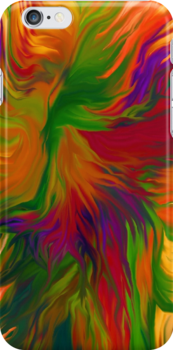 iPhone case of painting.. Citrus Crash by linmarie
