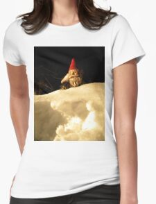 Snowpile Gnome Womens Fitted T-Shirt