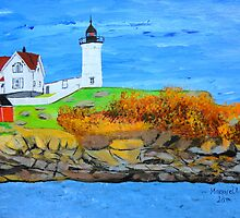 Cape Neddick Lighthouse/painted by maggie326