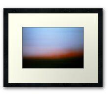 Soft Evening Sky I Framed Print