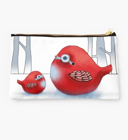 Little Red Robins Studio Pouch