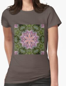 Kaleidoscope of a beautiful fungus Womens Fitted T-Shirt