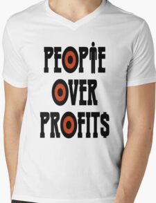 People Over Profits Occupy Protests Mens V-Neck T-Shirt