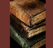 Stack Of Books iPhone by Evita
