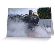 Letting Off Steam Greeting Card