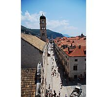 The Streets of Dubrovnik Photographic Print