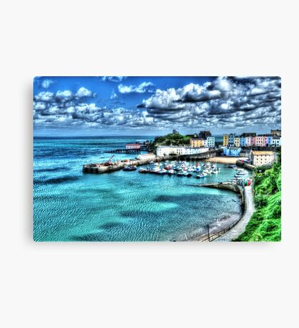 Tenby Harbour Painterly Canvas Print