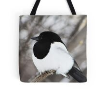 Winter Magpie Tote Bag