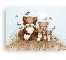 Little Foxes Metal Print