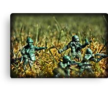 Toy Soldiers Attack! (Lomo image) Canvas Print