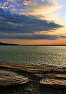 A Colorful Sunset Scene...Lake Eufaula, Oklahoma by Carolyn  Fletcher