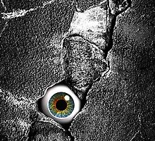 The walls have eyes iPhone 4 case by Steve Crompton
