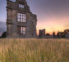 Morton Corbett Castle sunset by davediver