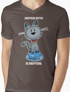Skeptical Kitteh is Skeptical Mens V-Neck T-Shirt