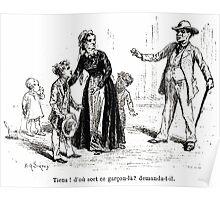 Achille Sirouy Mark Twain Les Aventures de Huck Huckleberry Finn illustration p217 Poster
