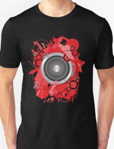 Retro Grunge with Speaker Red T-Shirt